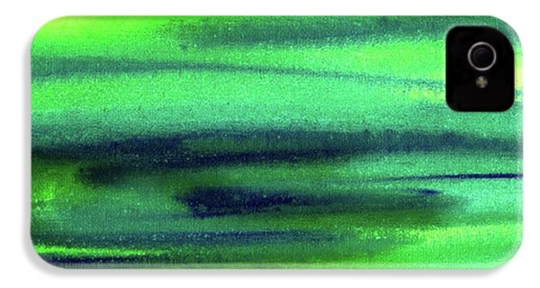 Emerald Flow Abstract Painting IPhone 4 Case