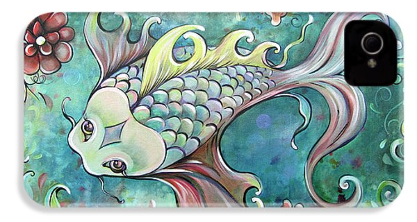 Emerald Koi IPhone 4 / 4s Case by Shadia Derbyshire