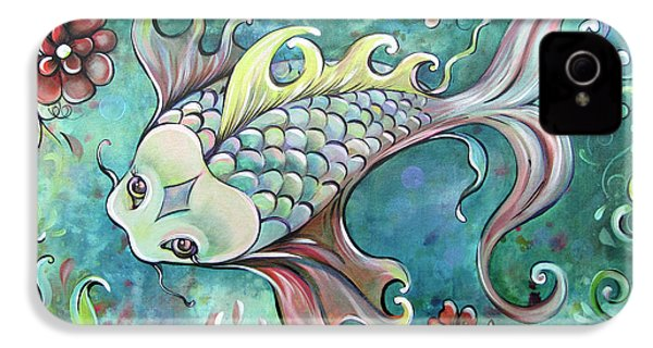 Emerald Koi IPhone 4 Case by Shadia Derbyshire