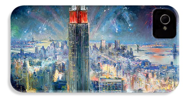 Empire State Building In 4th Of July IPhone 4 / 4s Case by Ylli Haruni