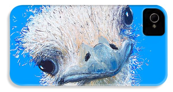 Emu Painting IPhone 4 / 4s Case by Jan Matson