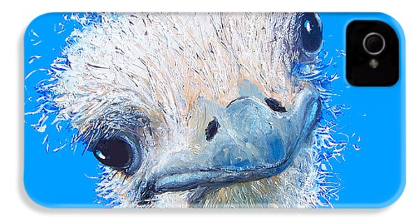 Emu Painting IPhone 4 Case by Jan Matson
