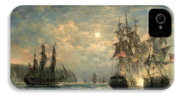 Engagement Between The 'bonhomme Richard' And The ' Serapis' Off Flamborough Head IPhone 4 Case