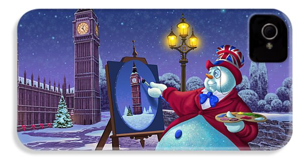 English Snowman IPhone 4 Case by Michael Humphries