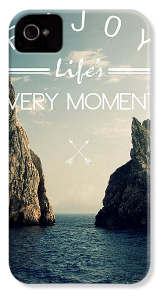 Enjoy Life Every Momens IPhone 4 / 4s Case by Mark Ashkenazi