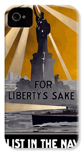 Enlist In The Navy - For Liberty's Sake IPhone 4 / 4s Case by War Is Hell Store