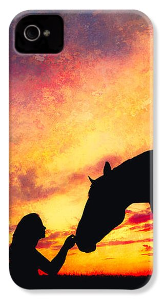 Equine Sunset IPhone 4 Case by Debi Bishop