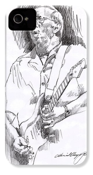 Eric Clapton Blue IPhone 4 Case by David Lloyd Glover
