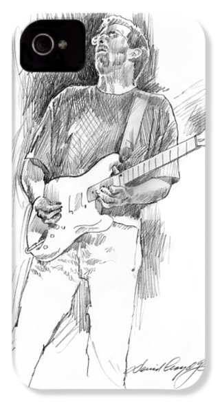 Eric Clapton Strat IPhone 4 Case by David Lloyd Glover