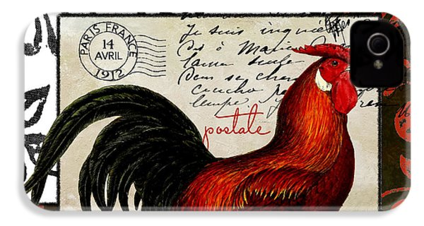 Europa Rooster II IPhone 4 Case by Mindy Sommers