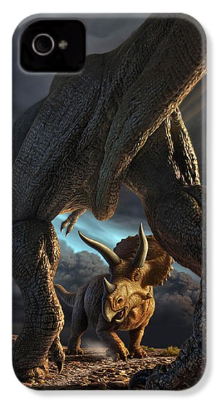 Face Off IPhone 4 Case by Jerry LoFaro