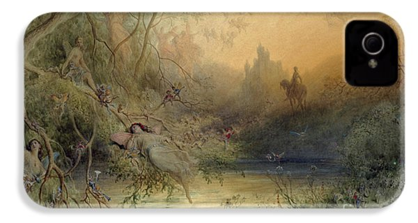 Fairy Land IPhone 4 Case by Gustave Dore