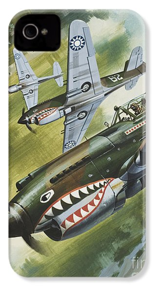 Famous Aircraft And Their Pilots IPhone 4 Case by Wilf Hardy