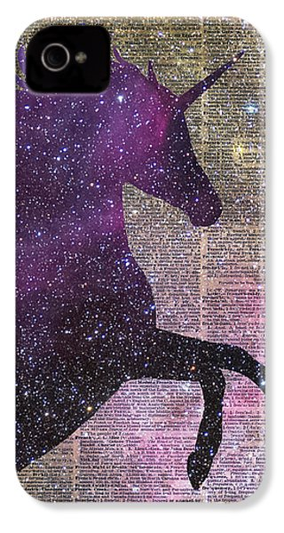 Fantasy Unicorn In The Space IPhone 4 / 4s Case by Jacob Kuch