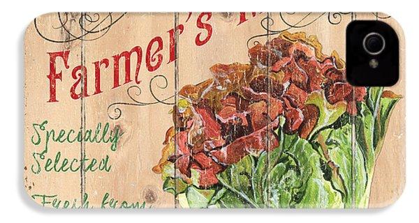 Farmer's Market Sign IPhone 4 Case by Debbie DeWitt