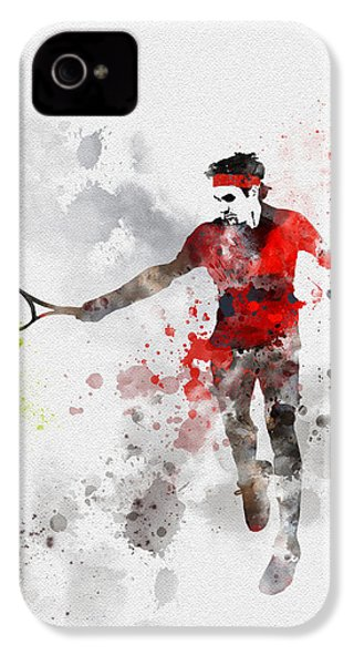 Federer IPhone 4 Case by Rebecca Jenkins