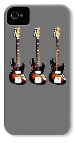 Fender Jazzbass 74 IPhone 4 Case by Mark Rogan