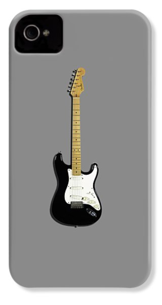 Fender Stratocaster Blackie 77 IPhone 4 Case by Mark Rogan