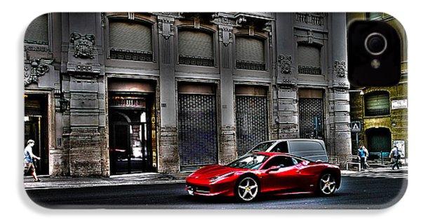 Ferrari In Rome IPhone 4 Case by Effezetaphoto Fz