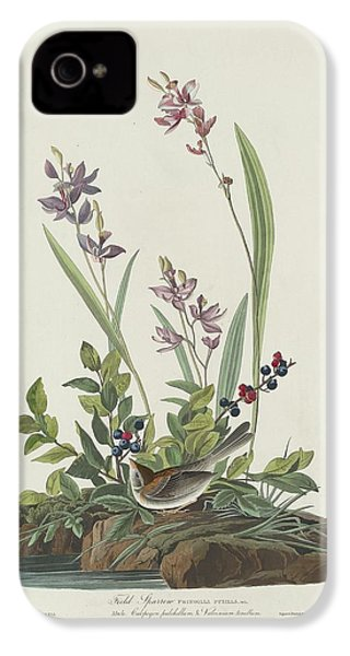 Field Sparrow IPhone 4 / 4s Case by Anton Oreshkin