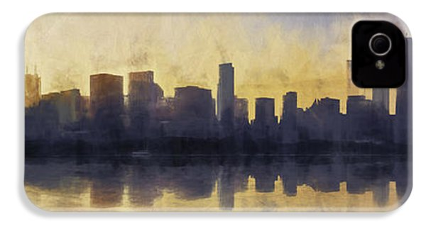 Fire In The Sky Chicago At Sunset IPhone 4 Case by Scott Norris