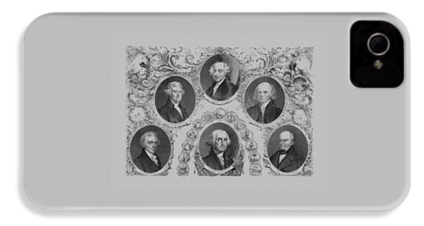 First Six U.s. Presidents IPhone 4 Case by War Is Hell Store