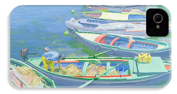 Fishing Boats IPhone 4 Case by William Ireland
