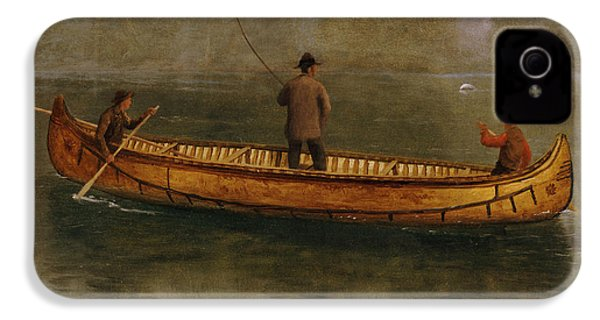 Fishing From A Canoe IPhone 4 / 4s Case by Albert Bierstadt