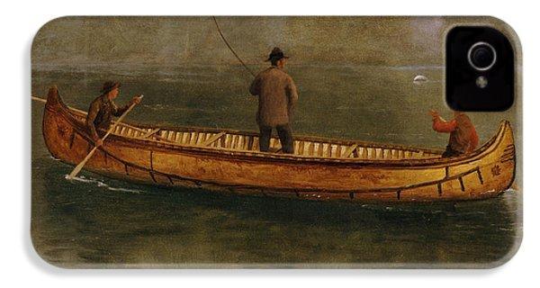Fishing From A Canoe IPhone 4 Case by Albert Bierstadt