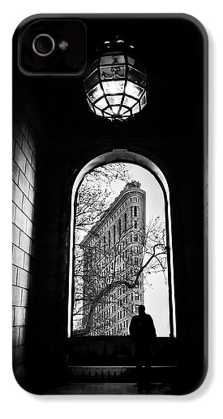 IPhone 4 Case featuring the photograph Flatiron Perspective by Jessica Jenney