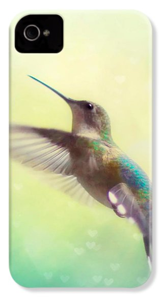 Flight Of Fancy - Square Version IPhone 4 / 4s Case by Amy Tyler