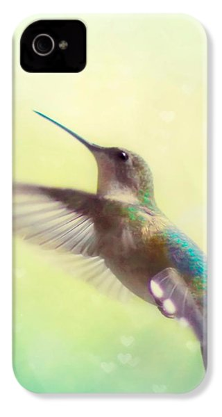 Flight Of Fancy - Square Version IPhone 4 Case by Amy Tyler
