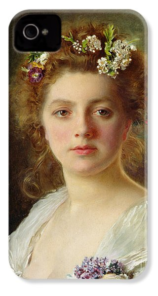 Flora IPhone 4 Case by Gustave Jacquet