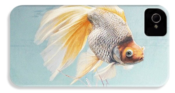 Flying In The Clouds Of Goldfish IPhone 4 Case by Chen Baoyi