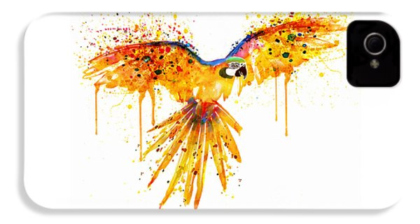 Flying Parrot Watercolor IPhone 4 Case by Marian Voicu