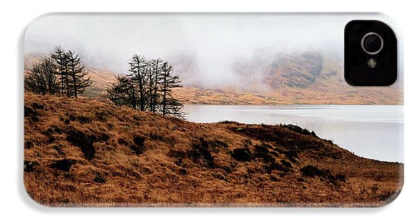 Foggy Day At Loch Arklet IPhone 4 Case by Jeremy Lavender Photography