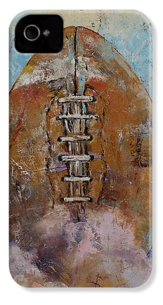 Football IPhone 4 Case by Michael Creese