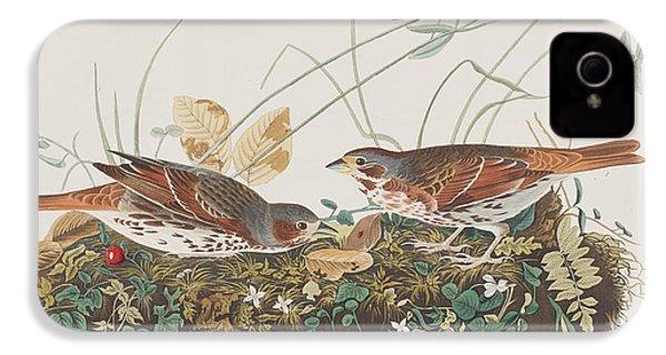 Fox Sparrow IPhone 4 / 4s Case by John James Audubon