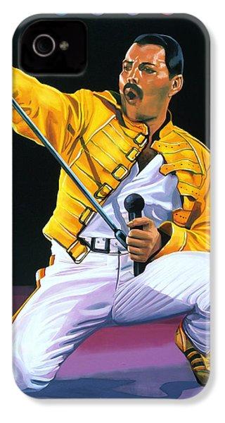 Freddie Mercury Live IPhone 4 Case by Paul Meijering