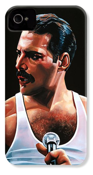 Freddie Mercury IPhone 4 Case by Paul Meijering