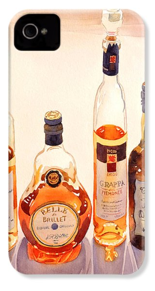 French Liqueurs IPhone 4 Case by Mary Helmreich