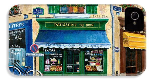 French Pastry Shop IPhone 4 / 4s Case by Marilyn Dunlap