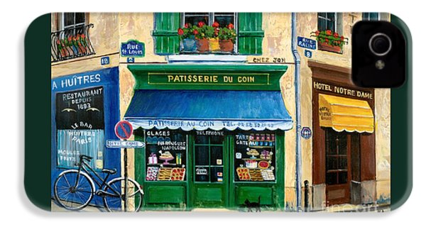 French Pastry Shop IPhone 4 Case by Marilyn Dunlap