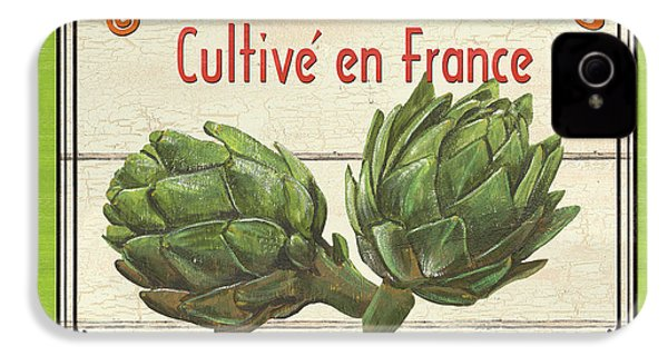 French Vegetable Sign 2 IPhone 4 Case by Debbie DeWitt