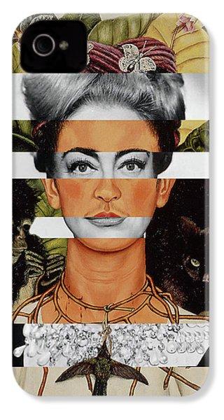 Frida Kahlo And Joan Crawford IPhone 4 Case by Luigi Tarini