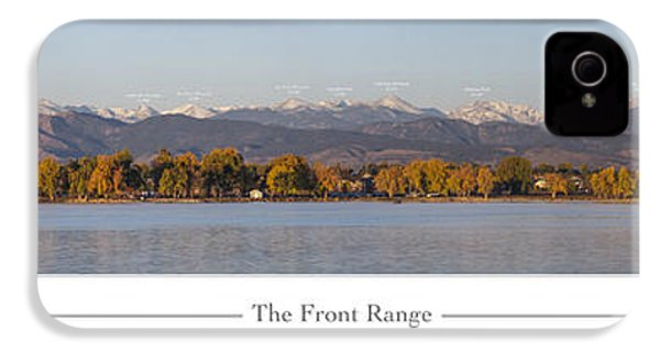 Front Range With Peak Labels IPhone 4 Case by Aaron Spong