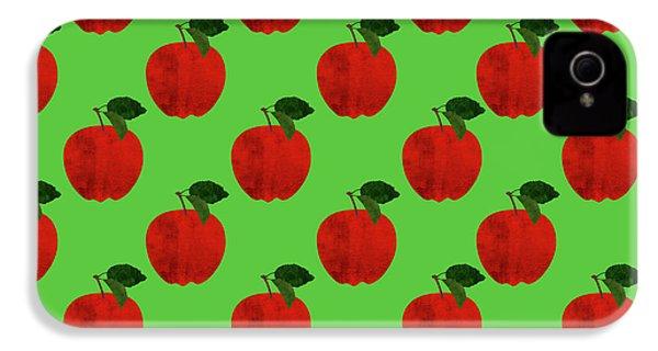 Fruit 02_apple_pattern IPhone 4 Case