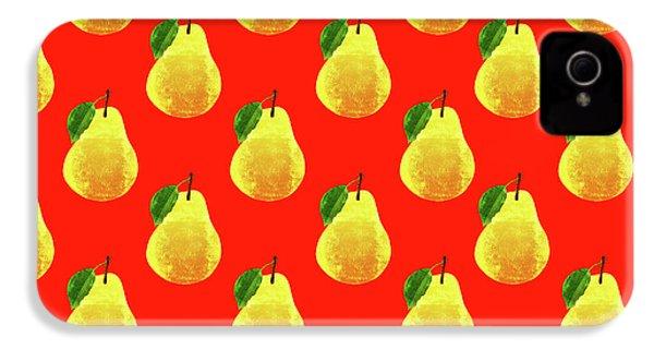Fruit 03_pear_pattern IPhone 4 Case by Bobbi Freelance