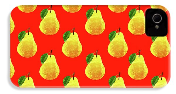 Fruit 03_pear_pattern IPhone 4 Case by Bobbi Freelance