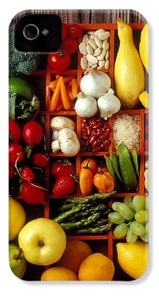 Fruits And Vegetables In Compartments IPhone 4 Case